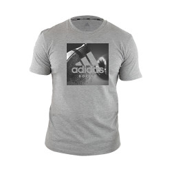 Adidas Combat Sports, COMMUNITY T SHIRT, Grey, AC-ADIBGT02-HEGR image here