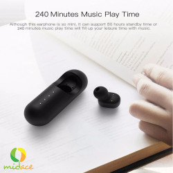 QCY,Mini 1 Wireless Bluetooth Earphones with Charger Case Black,black,QCY-MINI1-BLK image here
