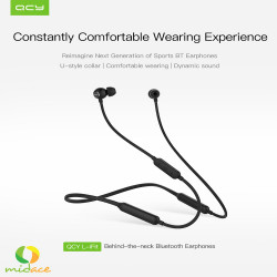 QCY,New Original QCY L1 Fit v5.0 Neckband Bluetooth Earphone Sweatproof Sports Earbuds Black,black,QCY-L1-FIT image here