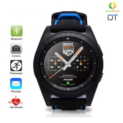 DT G6 Sweatproof Sports Bluetooth Smartwatch Rubber Strap Black image here