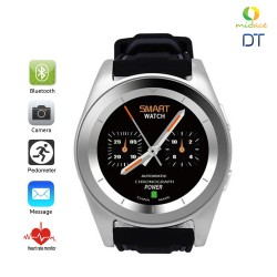 DT G6 Sweatproof Sports Bluetooth Smartwatch Rubber Strap Silver image here