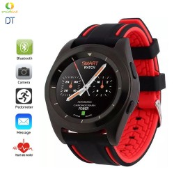 DT G6 Sweatproof Sports Bluetooth Smartwatch Rubber Strap Red image here
