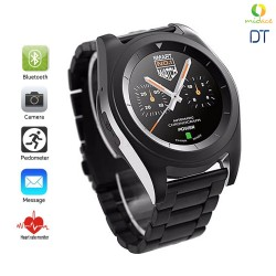 DT G6 Sweatproof Sports Bluetooth Smartwatch  Metal Strap Black image here