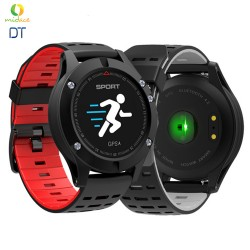 NEW DT F5 GPS Smartwatch Altimeter Barometer Thermometer Bluetooth 4.2 Smartwatch Wearable Devices Red image here