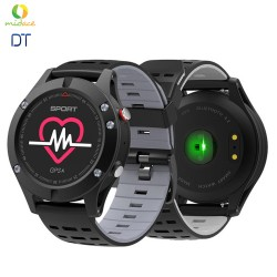 NEW DT F5 GPS Smartwatch Altimeter Barometer Thermometer Bluetooth 4.2 Smartwatch Wearable Devices Grey/Black image here
