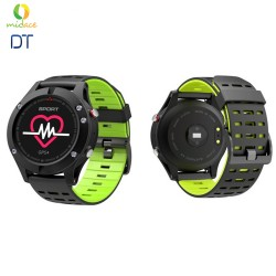 NEW DT F5 GPS Smartwatch Altimeter Barometer Thermometer Bluetooth 4.2 Smartwatch Wearable Devices Yellow Green image here