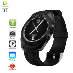 DT G5 Sweatproof Smart Watch - Bluetooth 4.0, Smartphone Sync, Heart Rate Sensor, Pedometer, Sleep Monitor - Elegant Black image here