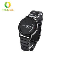 DT, 126 Stainless Steel Analog Quartz Wrist Watch for Men and Women Metal Black DT-126-MTLBLK, Black, DT-126-MTLBLK image here