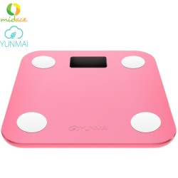 YUNMAI Mini Original English Digital Weighing Scale Version Bluetooth 4.0 -Pink image here