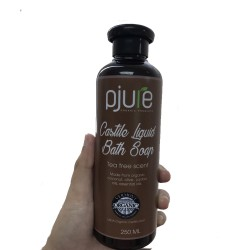 Pjure Organic Castile Liquid Bath Soap Tea Tree Scent 250 ML image here
