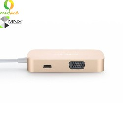 Minix USB-C Multiport Adapter with VGA Output Gold image here