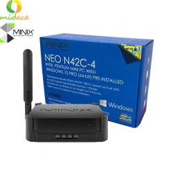 Minix NEO N42C-4 Intel Pentium Mini PC with Windows 10 Pro (64-bit) Ideal Solution for Industrial + Commercial Applications VESA Mount included for fast and easy installation Black image here