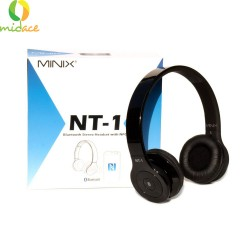 MINIX NT1 Wireless Bluetooth Stereo Headphone Comfortable Wireless Headset Black image here