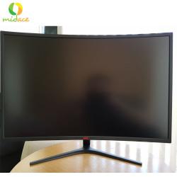 "New HKC NB32C  32"" Curved 1800R LED Monitor, Full-HD 1920x1080, HDMI, DVI, VGA, Flicker Free, Low-Blue light Black image here"