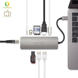 Pepper Jobs TCH-6 Ultra USB-C Digital AV Multiport & Network Hub Adapter MacBook Compatible  image here