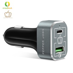 Pepper Jobs True Power Delivery PDQC63W 63 Watt Power Delivery & QC 3.0 Car Charger -Can Charge MacBook Pro and Nintendo Switch image here