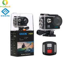 New Eken H9R Version 4.0 Action Camera Remote Ultra FHD 4K 30 ULTRA HD WiFi 1080P 60fps 2.0 LCD 170D Go Waterproof Pro Camera Black  image here