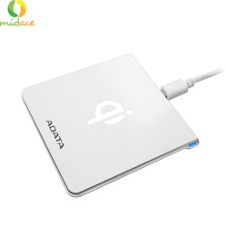 Adata CW0050 Wireless Charging Pad  Certified Support Qi-Enabled Devices White image here
