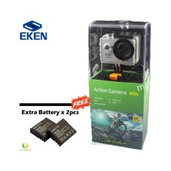 Midace W9s by Eken Action Camera Full HD Wi-Fi Waterproof Sports Camera Silver with Extra Battery (2PCS) image here