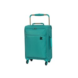 IT Luggage London Worlds Lightest Small Hand Carry Luggage Viridian Green image here
