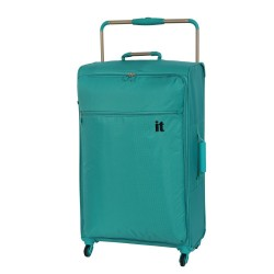 IT Luggage London Worlds Lightest Large Luggage Viridian Green image here
