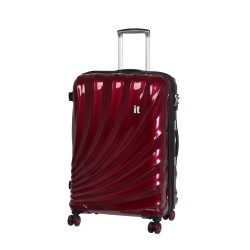 IT Luggage London Bolero Anti Theft Zipper Small Wine Red Black Trim image here