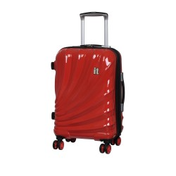 IT Luggage London Small Bolero Luggage with TSA Lock and Anti-Theft Zippers Grenadine image here