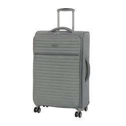 IT Luggage London Quilte Flint gray Luggage with Expander Medium image here