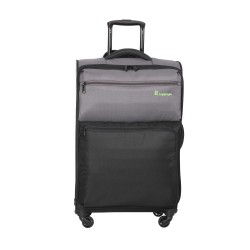 IT Luggage London Duotone Luggage with TSA Lock Medium Pewter Black image here