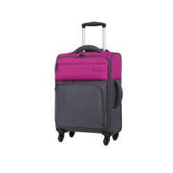 IT Luggage London Duotone Luggage with TSA Lock Small Fuschia Pink image here