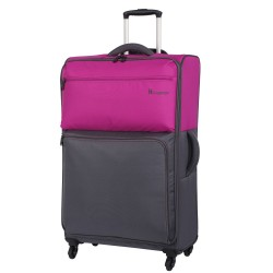 IT Luggage London Duotone Luggage with TSA Lock Large Fuschia Pink image here