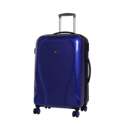 IT Luggage Corona TSA Lock 100% Polycarbonate Royal Navy Medium image here