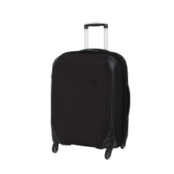 IT Luggage Frameless Unbreakable Bag Black Medium with Anti theft zipper image here
