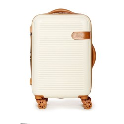 IT Luggage Valiant Luxury Luggage with TSA Lock Cream/Tan Medium image here