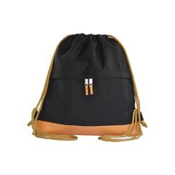 Myriad Basics II  Black Drawstring bag image here