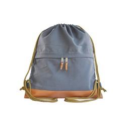 Myriad Basics II Grey Drawstring bag image here
