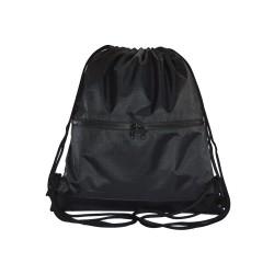 Myriad Basics Charcoal Black  Water Resistant Drawstring bag image here