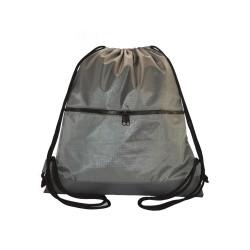 Myriad Basics Chrome Grey  Water Resistant Drawstring bag image here