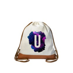 Galaxy Initial Drawstring bag image here