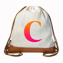 Myriad Print Concepts,Gradient Initial Drawstring bag,White,DS-GRDT-C image here