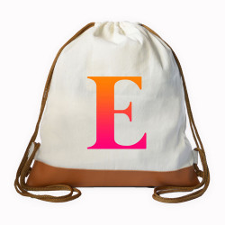 Gradient Initial Drawstring bag image here