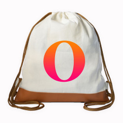Myriad Print Concepts,Gradient Initial Drawstring bag,White,DS-GRDT-O image here