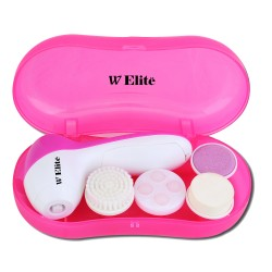 5 IN 1 FACIAL KIT (FACIAL MASSAGER, CLEANSING BRUSH, 2 SOFT SPONGE, MASSAGER APPLICATOR image here
