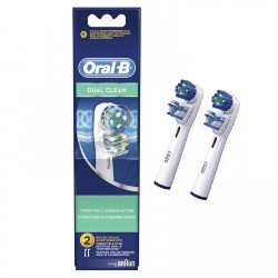 Braun Oral-B Dual Clean Replacement Brush Heads EB417-2 image here