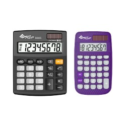 XYZLife Handheld Calculator 880 (Purple) and XYZLIfe Desktop Calculator D805 image here