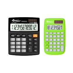 XYZLife Handheld Calculator 880 (Green) and XYZLife Desktop Calculator D805A2 image here