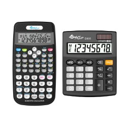 XYZLife, Scientific Calculator SR80 and Desktop Calculator D805, Black, 4713120935683937137 image here