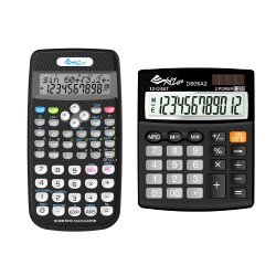 XYZLife, Scientifc Calculator SR80 and Desktop Calculator D805A2, Black, 4713120937656935683 image here