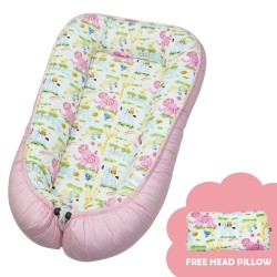 Babycuddle Bed Zoofari in Pink image here