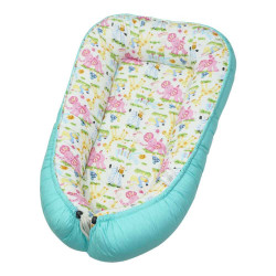 Babycuddle Bed Zoofari in Teal image here